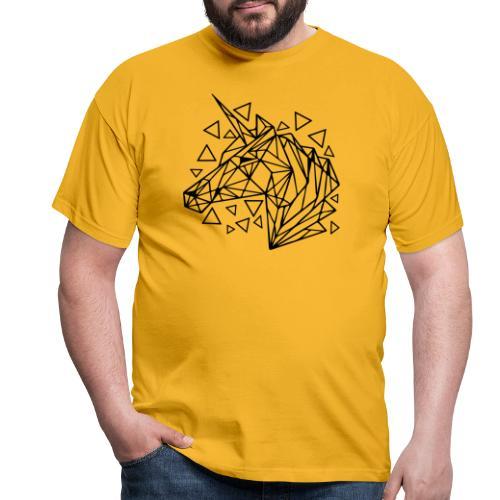 unicornio minimalista - Camiseta hombre