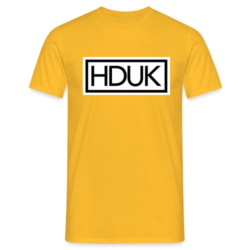 HDUK Black Logo with Border - Men's T-Shirt