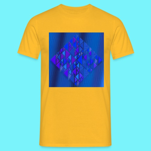 Pythagorean right- and left- angle fish in blue - Men's T-Shirt