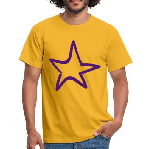 Star Outline Pixellamb - Männer T-Shirt