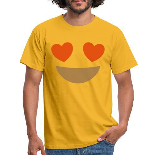 Emoji smiling face with heart eyes - Men's T-Shirt