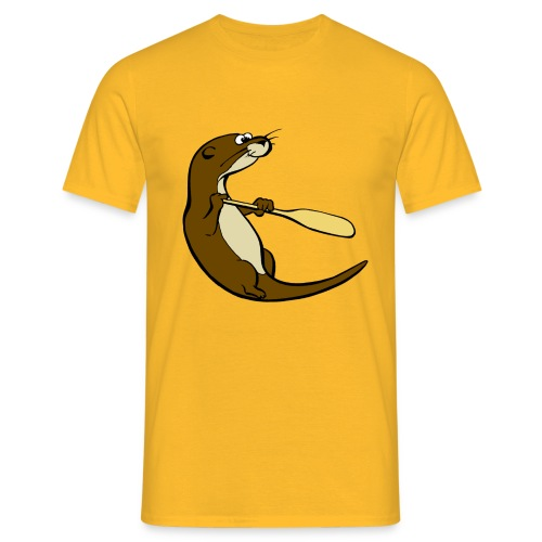 Classic Song of the Paddle otter logo - Men's T-Shirt