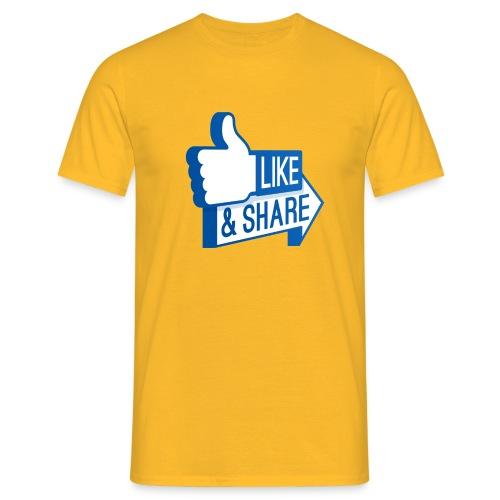 Like & Share (Facebook) - Maglietta da uomo