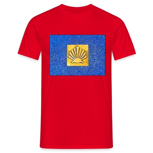 Scallop Shell Camino de Santiago - Men's T-Shirt