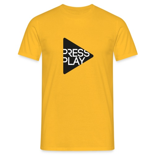 PressPlay logo - Men's T-Shirt