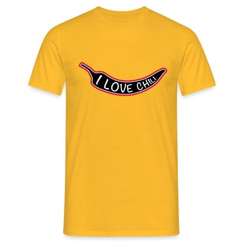 I love chili - Miesten t-paita