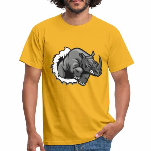 Méchant rhinocéros - T-shirt Homme