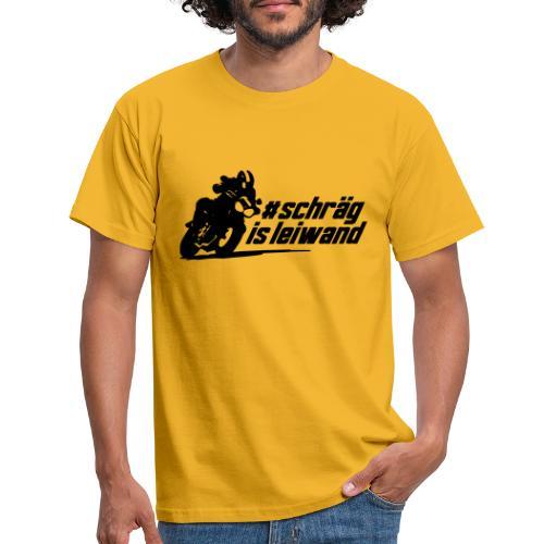 Schrägislwand mit Motorrad - Männer T-Shirt
