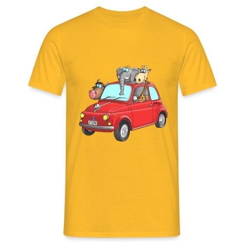 Giraffe - Elefant - Bulle im Auto Kinder - Männer T-Shirt