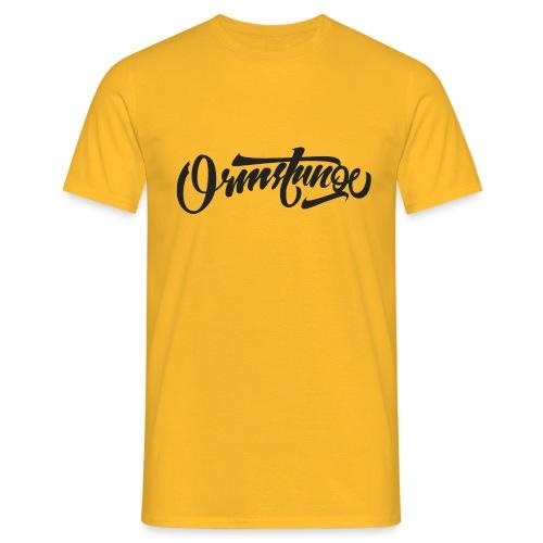 Ormstunge logo - T-skjorte for menn