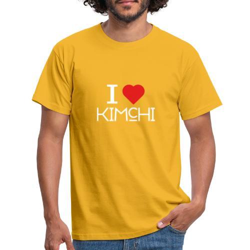 Korean Food Stories I LOVE KIMCHI (white) - Männer T-Shirt