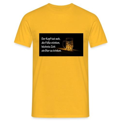 Bier Sprueche - Männer T-Shirt
