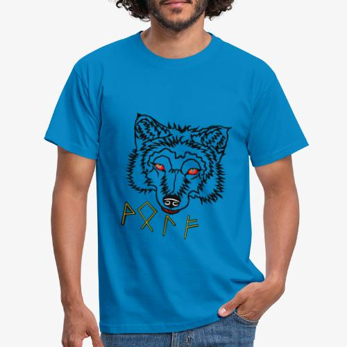 Wolkskopf mit Runen - Männer T-Shirt