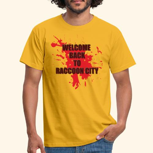 Welcome Back to Raccoon City TEXT 01 - Men's T-Shirt