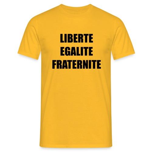 Liberté, Egalité, Fraternité, Noir - T-shirt Homme