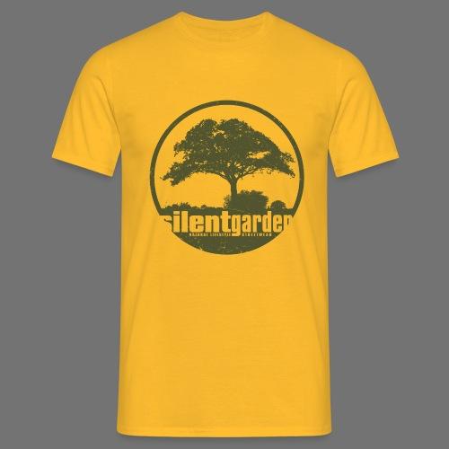 hiljainen puutarha (vihreä oldstyle) - Miesten t-paita
