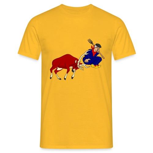 hert vs boer - Mannen T-shirt