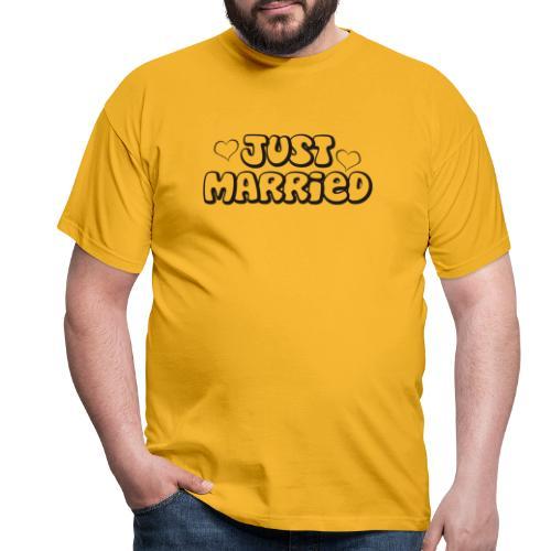 JUST MARRIED Partner Namen schwarz - Männer T-Shirt