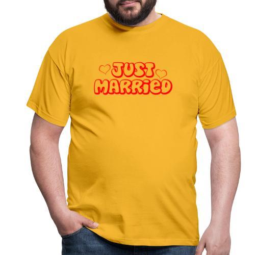 JUST MARRIED Partner Namen rot - Männer T-Shirt