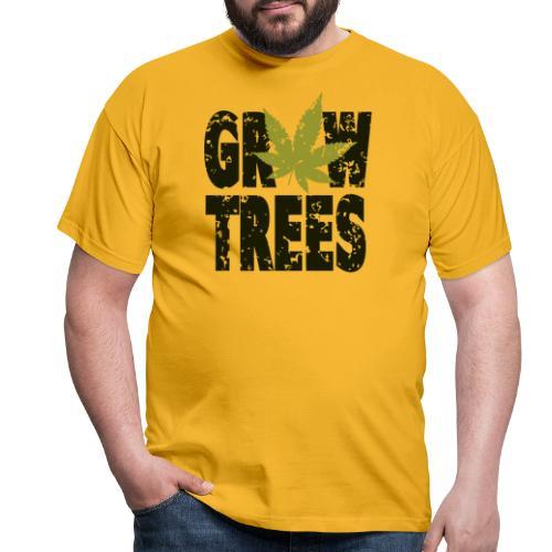 Grow Weed Trees Cannabis - Vintage - Männer T-Shirt