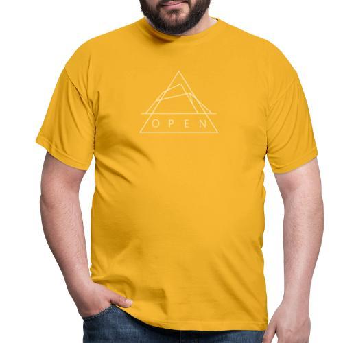 Openlogga vit - T-shirt herr