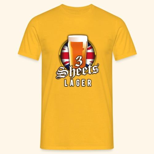 Beer Shirt Design 3 Sheets Lager - Männer T-Shirt