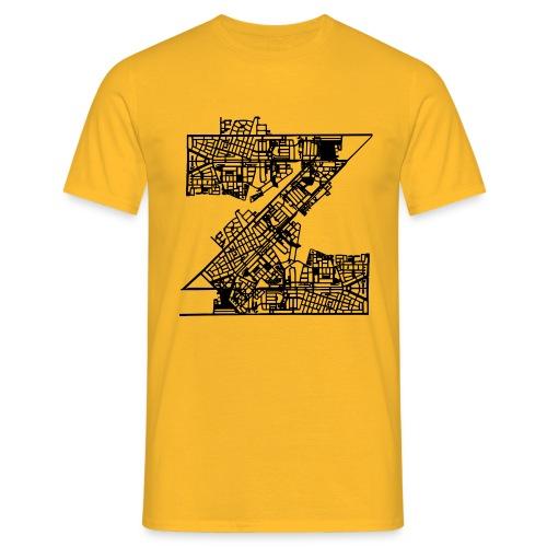 Zuilen lijn net - Mannen T-shirt