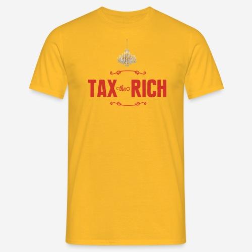 Tax the Rich, rött tryck med kristallkrona - T-shirt herr