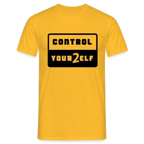 Control yourself schwarz - Männer T-Shirt