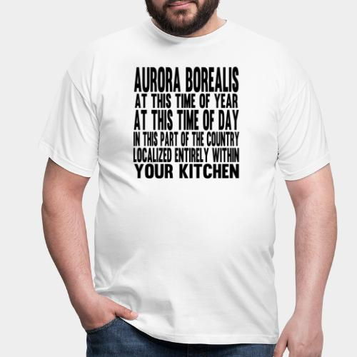 Aurora Borealis Black - Men's T-Shirt