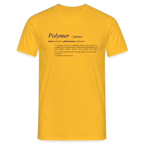 Polymer definition. - Men's T-Shirt