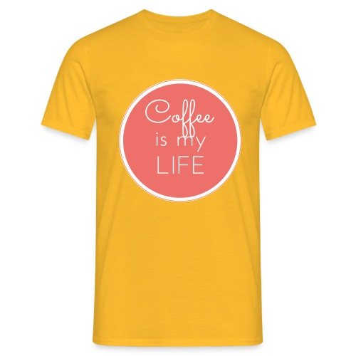 Coffee is my life - Camiseta hombre