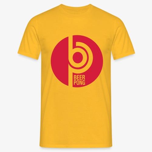 Beer Pong Kreis - Männer T-Shirt