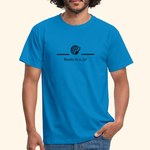 Roots in a jar logo - T-shirt herr