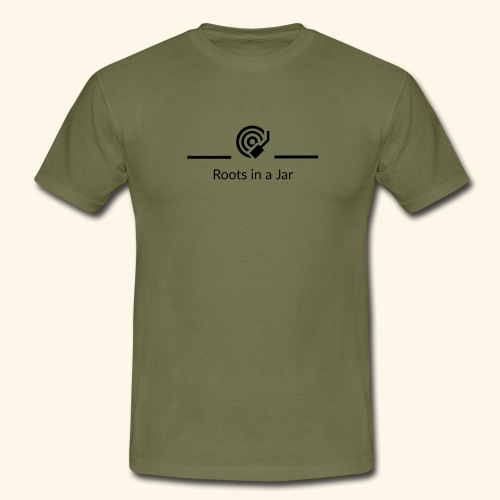 Roots in a jar logo - T-shirt herr