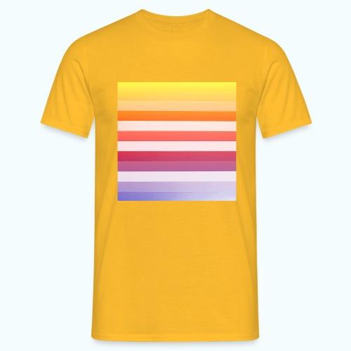Rainbow Abstract Acrylic Painting - Men's T-Shirt