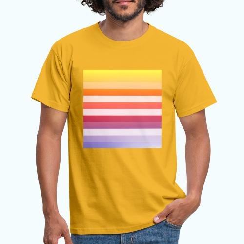 Rainbow Abstract Acrylic Painting - Men's T-Shirt