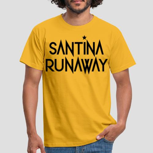 DJ Santina Runaway - Logo - Black - Men's T-Shirt