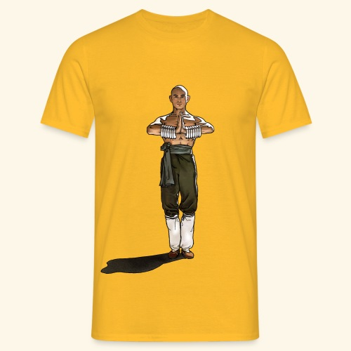 Shaolin kriger munk - Herre-T-shirt