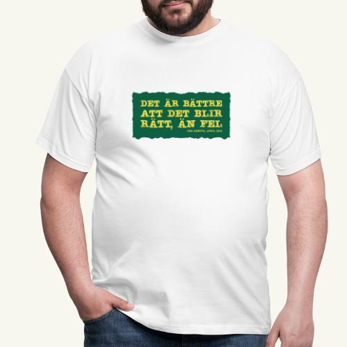 Kenttä citat - T-shirt herr