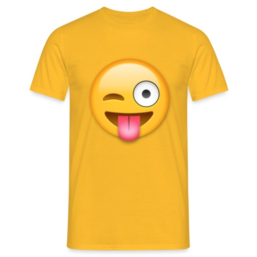 Winking Face - Männer T-Shirt