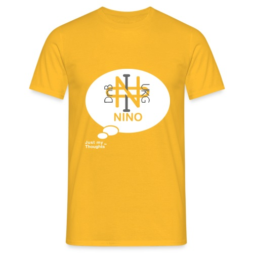 NINO RED 40 x 40 grey only png - Men's T-Shirt