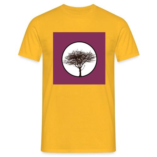 Baum in Kreis - Männer T-Shirt