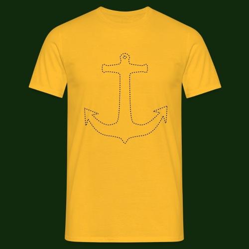Anker gestrichelt - Männer T-Shirt