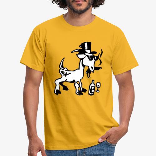 Bock auf Shirts ohne Text schwarz und weiß gefärbt - Männer T-Shirt