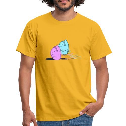 Maskenpaar - Männer T-Shirt