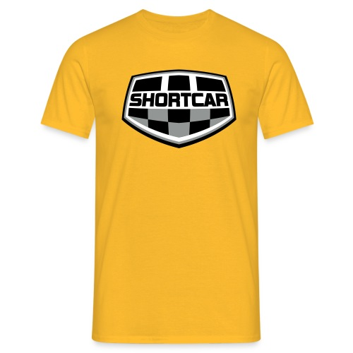 Sort Hvitt logo vektor - T-skjorte for menn