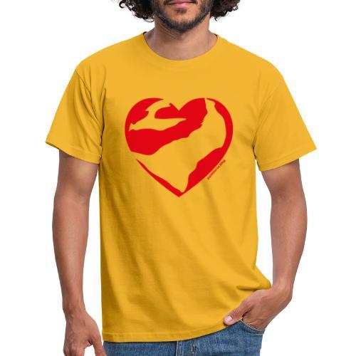 Cuore Paint - Maglietta da uomo
