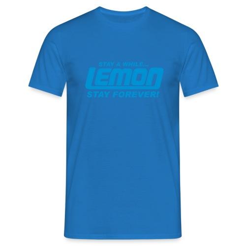 lemon logo stay a while - Men's T-Shirt