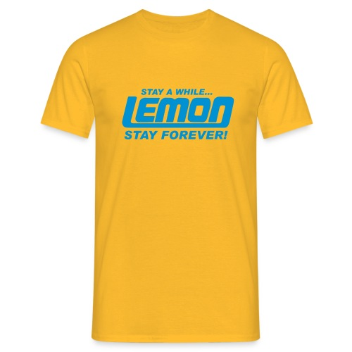 lemon logo stay a while - Men's T-Shirt